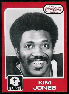 Kim Jones 1979 Coke Saints football card