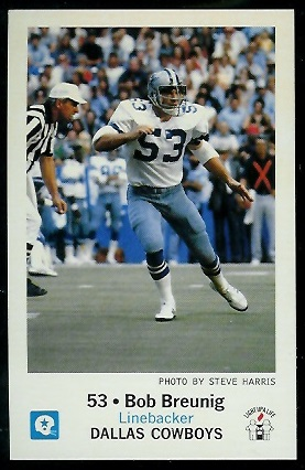 Bob Breunig 1979 Cowboys Police football card