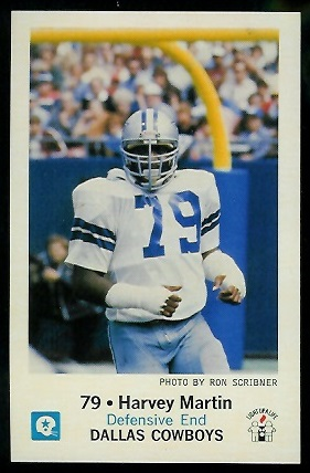Harvey Martin 1979 Cowboys Police football card