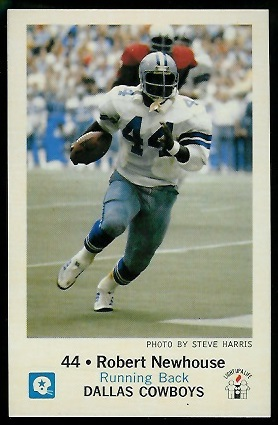 Robert Newhouse 1979 Cowboys Police football card