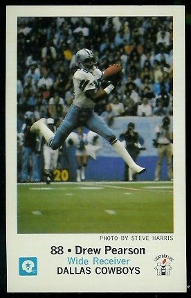 Drew Pearson 1979 Cowboys Police football card