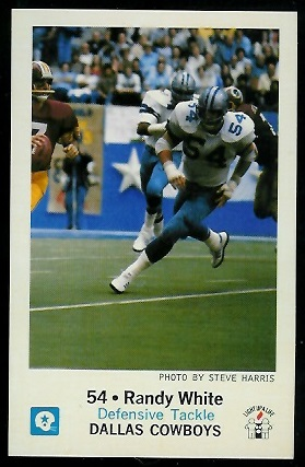 Randy White 1979 Cowboys Police football card