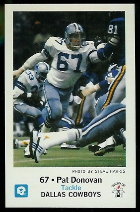 Pat Donovan 1979 Cowboys Police football card