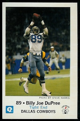 Billy Joe DuPree 1979 Cowboys Police football card