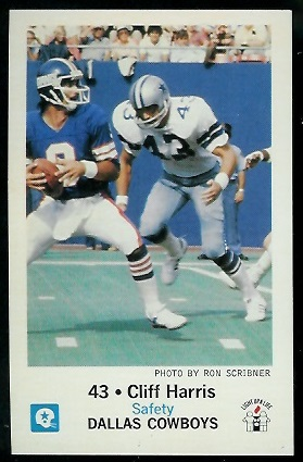 Cliff Harris 1979 Cowboys Police football card