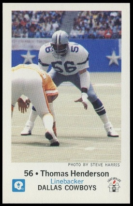 Thomas Henderson 1979 Cowboys Police football card
