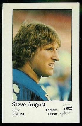 Steve August 1979 Seahawks Police football card