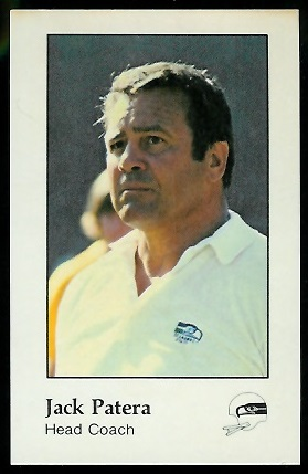 Jack Patera 1979 Seahawks Police football card