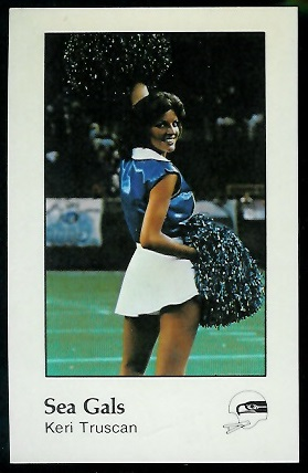 Sea Gals 1979 Seahawks Police football card