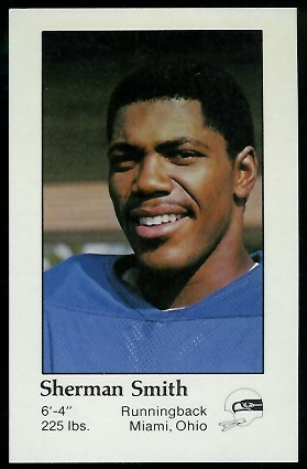Sherman Smith 1979 Seahawks Police football card