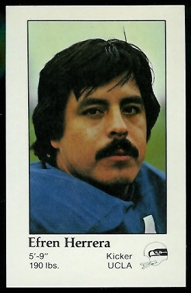 Efren Herrera 1979 Seahawks Police football card