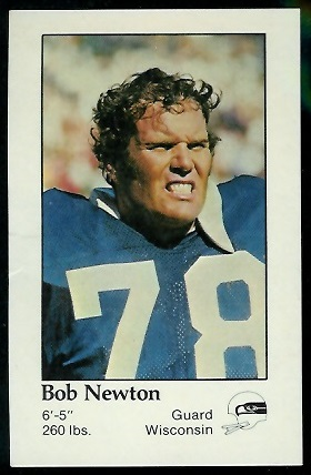 Bob Newton 1979 Seahawks Police football card