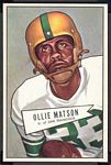 1952 Bowman Large Ollie Matson rookie football card