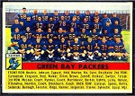 1956 Topps Green Bay Packers team card