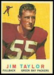 Jim Taylor 1959 Topps rookie football card