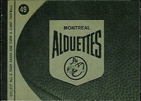 back of 1964 Topps CFL Montreal Alouettes football card