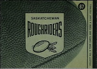 back of 1964 Topps CFL Saskatchewan Roughriders football card
