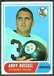 Andy Russell 1968 Topps football card