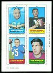 1969 Topps 4-in-1 Clendon Thomas, Don McCall, Lonnie Warwick, Earl Morrall