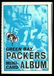 1969 Topps Mini-Card Albums Green Bay Packers