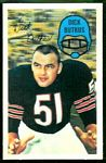 Dick Butkus 1970 Kellogg's football card