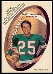 1970 O-Pee-Chee Stickers Terry Evanshen