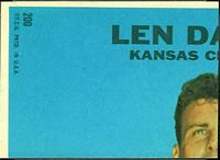 back of 1968 Topps Ernie Wright football card