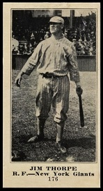 Jim Thorpe 1916 Sporting News baseball card