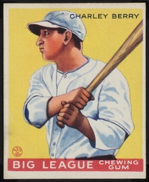 Charlie Berry 1933 Goudey baseball card