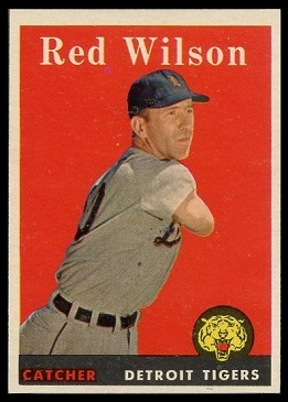 Red Wilson 1958 Topps baseball card