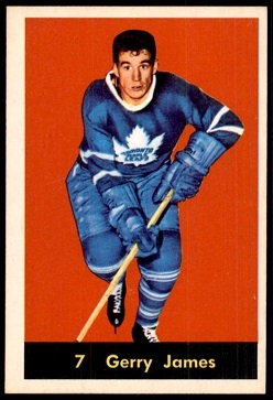 1960-61 Parkhurst Gerry James hockey card