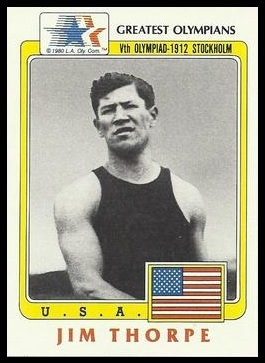 Jim Thorpe 1983 Topps Greatest Olympians card