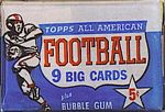1955 Topps All-American football card wrapper