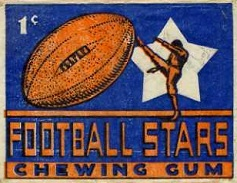 1935 National Chicle football card wrapper