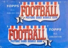 1955 Topps All-American 1 cent football card wrapper