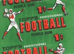 1956 Topps 1 cent football card wrapper