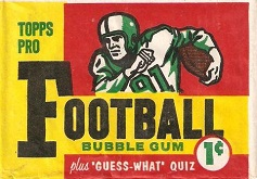 1959 Topps 1 cent football card wrapper