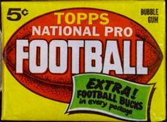 1962 Topps football card wrapper