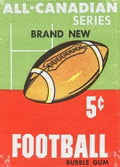 1962 Topps CFL football card wrapper