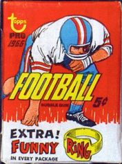 1966 Topps football card wrapper
