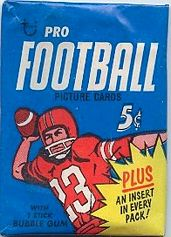1968 Topps football card wrapper