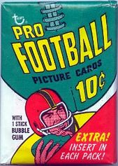 1970 Topps football card wrapper