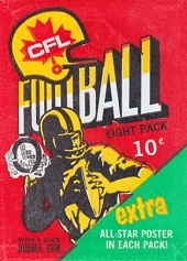 1971 O-Pee-Chee CFL football card wrapper
