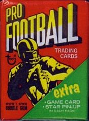 1971 Topps football card wrapper