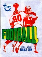 1972 Topps football card wrapper