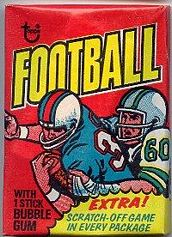 1975 Topps football card wrapper