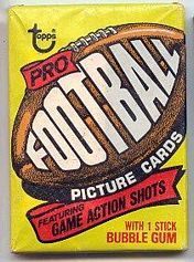 1977 Topps football card wrapper