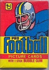 1978 Topps football card wrapper