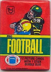1980 Topps football card wrapper
