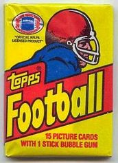 1981 Topps football card wrapper
